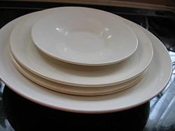 5 db sima fehér GRÁNIT tányér