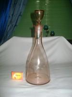 Régi, szőlő mintás, mályva színű karaffa, boros üveg