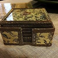Antik, rézszállal varrt hímzett aranybrokát brokát poháralátétek
