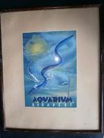 Aquarium korabeli plakátterv