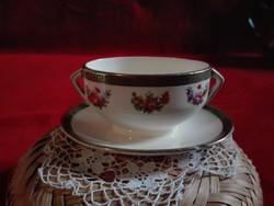Sarreguemines francia porcelán szószos tál