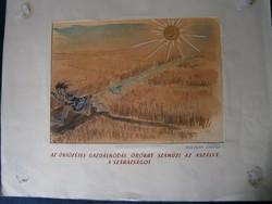 Ruszkay György karikatúra Öntözéses gazdálkodás hatalmas méretű karikatúra