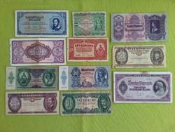 11 db történelmi bankjegy