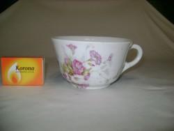 Antik, vastag falú, sorszámozott porcelán csésze - kis sérüléssel
