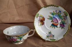 Herendi Viktória VBO antik teás csésze aljjal 1930 körül
