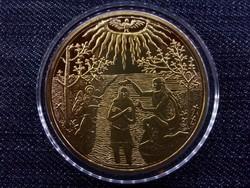 Magyar aranyóriások - Bethlen Gábor 10 aranydukát, keresztelőérem, 1626, utánveret /4636/