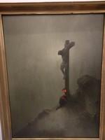 Krisztus a kereszten festmény
