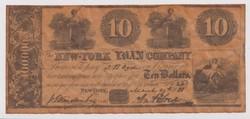 10 Dollars New-York Loan Company 1898.
