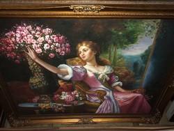 Gyönyörű és nagy olaj vászon festmény