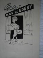 HAUSWIRTH MAGDA Vas- és edény reklám Füles újságba  16x22 cm