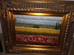 Blondel keretes olaj vászon festmény eladó