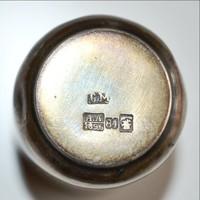 Antik orosz ezüst vodkás pohár 1896 évszámmal C.M. mesterjellel és Moszkva városjelzéssel