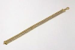 Sárga -fehér arany karkötő (ZAL-Au77872)