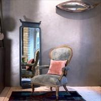 Hatalmas bécsi barokk gondolkodófotel modern lakásokhoz újratervezve.