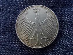 NSZK ezüst 5 Márka 1965 D