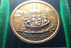 Magyar Vízügyi Múzeum emlékérme 1988. Bronz, 42,5 mm , 36 g.