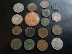 17 darab osztrák érme.
