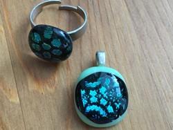 Kézműves gyűrű és medál