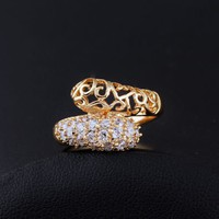 GF gyűrű, fehér CZ kristályokkal