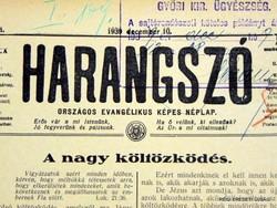 1941 február 16  /  HARANGSZÓ  /  RÉGI EREDETI ÚJSÁG Szs.:  4588