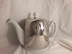 Guy Degrenne jelzett tea kiöntő thermo melegen tartó porcelán teás kanna 1953-ból