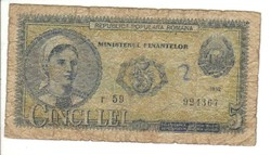 5 lei 1952 Románia II.