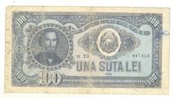 100 lei 1952 Románia II.