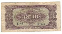 3 lei 1952 Románia II.