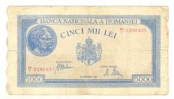 5000 lei 1945 Románia
