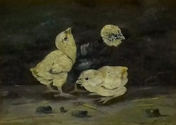 Mészöly Géza (1844-1887): Csibék