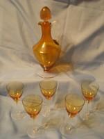 Art decó italos készl 6 db-os mézborostyán színű leárazva