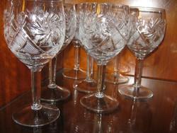 6 db  kristály boros pohár
