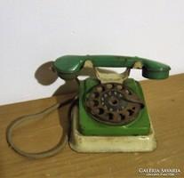 Régi, antik lemez játék telefon babaházba-kis méretű