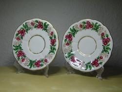 Alt Wien antik bécsi porcelán csészealj pár 1842 biedermeier korszak hibátlan állapotban