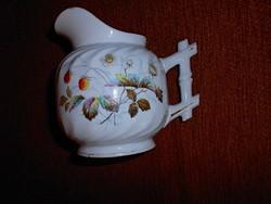 Antik szecessziós kézzel festett porcelán kancsó