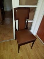 6 db szecessziós szék, réztalppal, és fém rátéttel, végső ár!