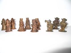 Réz figurák