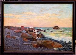 BARÁT MÓRIC 1911: 80 x 115 cm FESTMÉNY