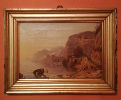 Gyönyörüű, antik olajfestmény (Hermann Corodi?).