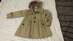 Kislány átmeneti kabát kapucnival, 6-7 évesnek  ÚJ!