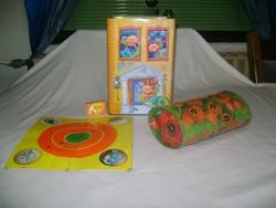 Retro lemez játék alap lap, lemez doboz és uzsonnás táska