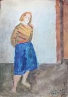 Farkas István:Kék szoknyás lány