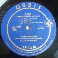 """Hanglemez 12"""" LP33Rpm (Sellaklemez)Grieg zongorakoncert a-moll op.16, Tschaikowsky Nr.1 b-moll op.23"""