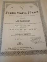Jézus,Mária,József Lelki Házikincstár kiadványa