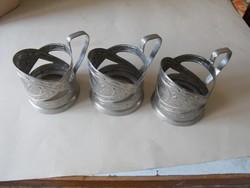 Orosz teás-pohártartó fémből