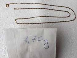 Arany 14K női nyaklánc,teljesen új 45 cm,1,7 gr