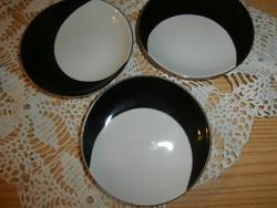 Art deco fekete fehér csészealátétek