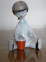 Hollóházi homokozó kislány figura!