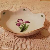 Herendi porcelán lila tulipán asztalközép, tálka