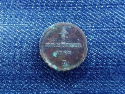 II. József 1/4 krajcár 1782 B
